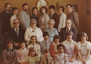 My family - circa 1982.  Can you spot me?