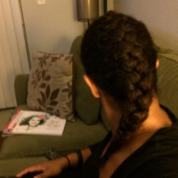 The satisfaction of a braid well done with tired arms and all - I have A LOT of hair.